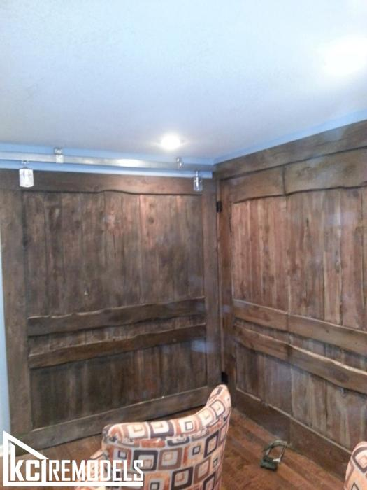 "Custom sliding ""Barn Doors"" for basement"