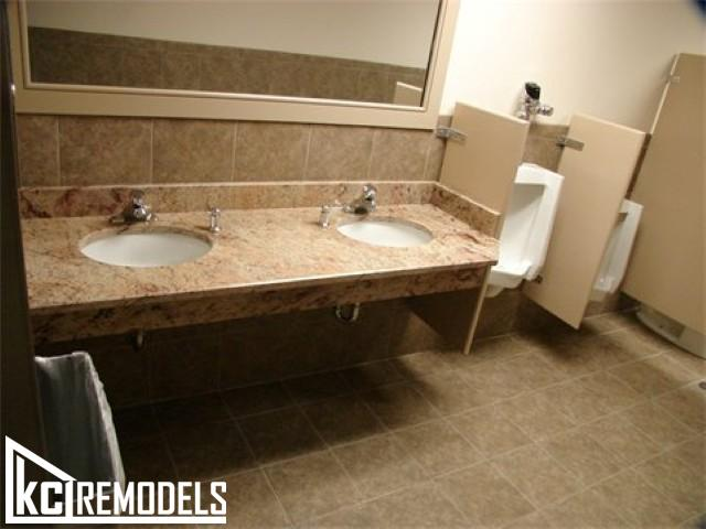 Commercial bathroom remodel in Kansas City