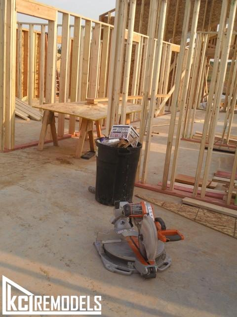 Home framing in Leawood
