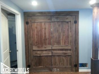 "Custom ""Barn Doors"" for basement"