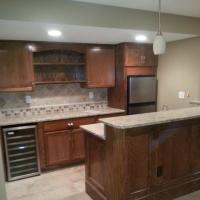 Basement remodel in Lenexa