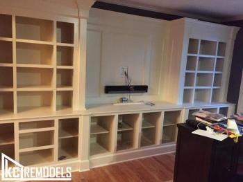 Custom Entertainment Center and Cabinets - Overland Park
