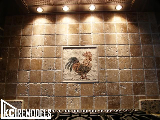 Rooster tile in Shawnee