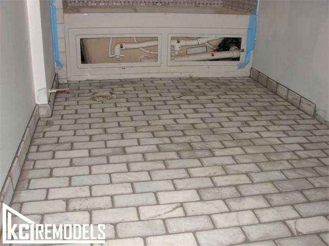 Tile floor in Lenexa