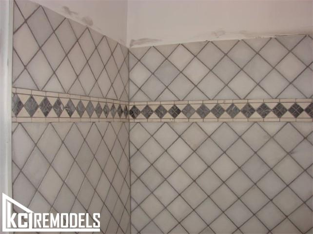 Tile shower in Shawnee
